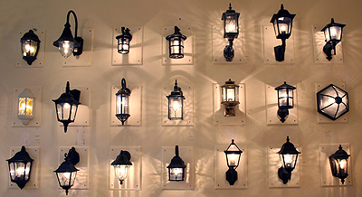 exterior lighting and lanterns products page from lighting gallery